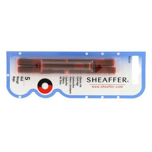 Sheaffer-Refills-Red-5-Pack-Fountain-Pen-Cartridge-SH-96340