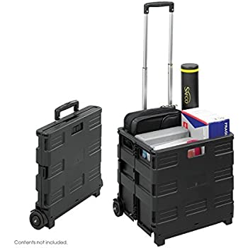 AuWit Load & Roll Cube Cart With Lid - XL - Black AUW-520B