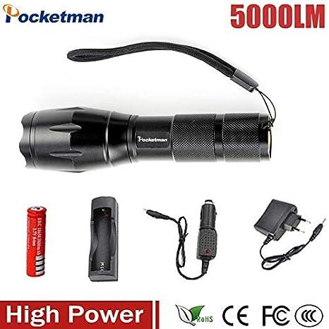 Opción F, T6: linterna LED CREE XM-L2 5000 lm linterna ...