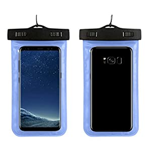 Nesee For Samsung Galaxy S8 5.8inch /S8Plus 6.2inch Swimming Waterproof Bag Case Cover (Shy Blue, 6.2in)