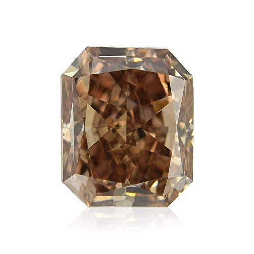 Leibish & Co 1.07Cts Fancy Dark Orangy Brown Loose Diamond Natural Color Radiant Cut GIA Cert