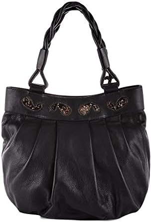 Studio Rog Hand Bag for Women - Leather, Black