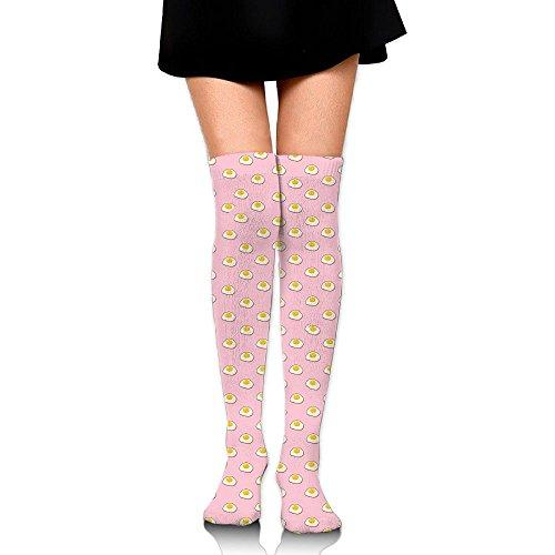 サイレント追加発明する目玉焼き ストッキング サイハイソックス 3D デザイン 女性男性 秋と冬 フリーサイズ 美脚 かわいいデザイン 靴下 足元パイル ハイソックス メンズ レディース ブラック