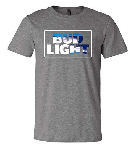 Brew City Beer Gear Bud Light Racetrack Logo Short Sleeve T-Shirt-Deep Heather-XXXL ()