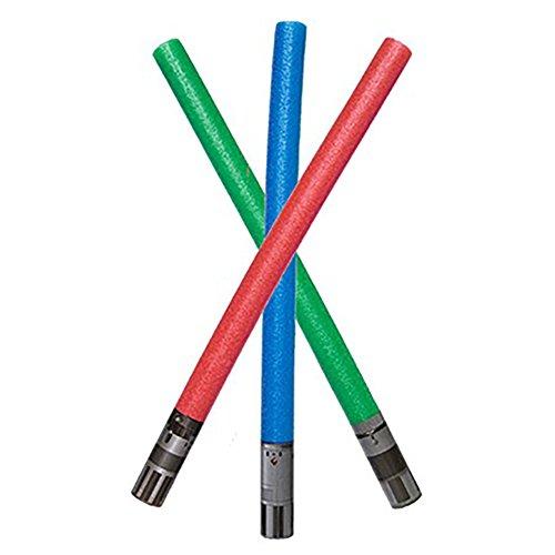 Star Wars Noodle Lightsaber Pack of 3 Luke Skywalker Yoda Darth Vader (Foam Lightsaber)