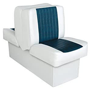 Politic 8WD707P-1-924 Deluxe Lounge Seat (White/Navy)