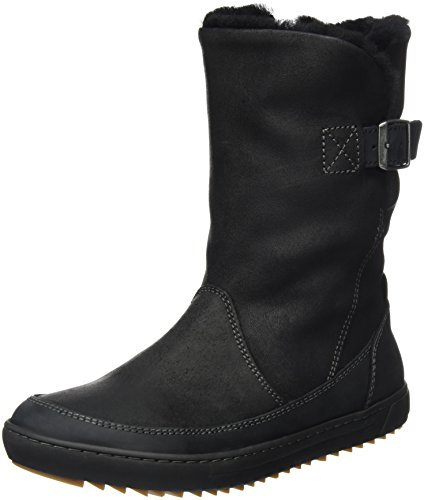 Birkenstock Women's Woodbury Shearling Casual Boot Black ...