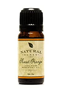 Sweet Orange Essential Oil - 100% Pure Therapeutic Grade Sweet Orange Oil by Natural Acres - 10ml