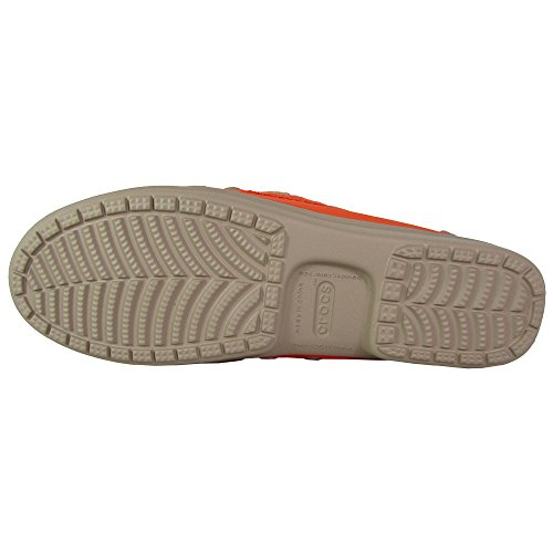 Crocs Damen Wrap ColorLite Loafer Mandarine / Tumbleweed