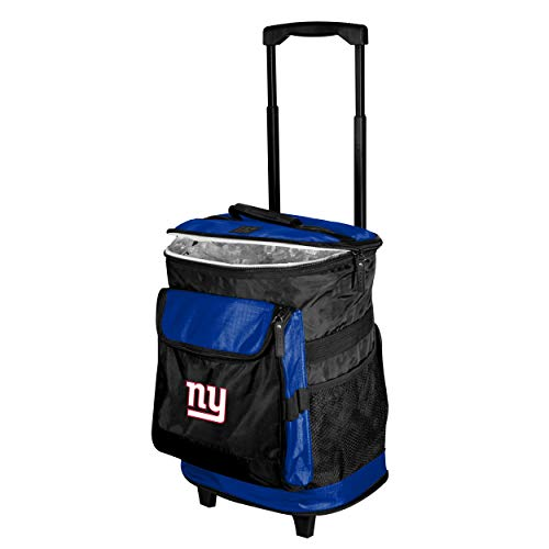 Logo Brands 621-57 New York Giants 48-Can Rolling Cooler with Wheels and Backpack Straps, 12 oz, Blue