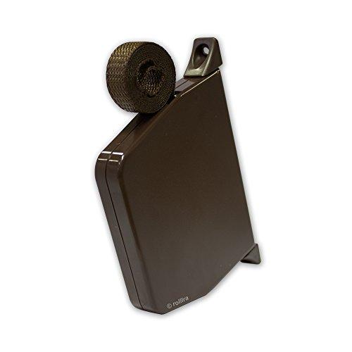 Rolladen Gurtwickler Aufputz braun schwenkbar und Gurtband 14mm Gurtbreite in braun für Rollladen