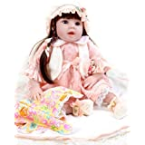 "Sweet Collection Lifelike Reborn Baby Doll Princess 8-Piece Gift Set 22"" Soft Vinyl Weighted Realistic Girl Interactive Birthday&Xmas Gift"