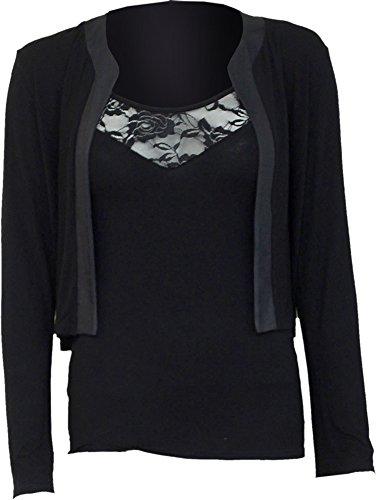 Spiral Womens - Gothic Elegance - 2in1 Lace Vest Cardigan - (Allure Vest)