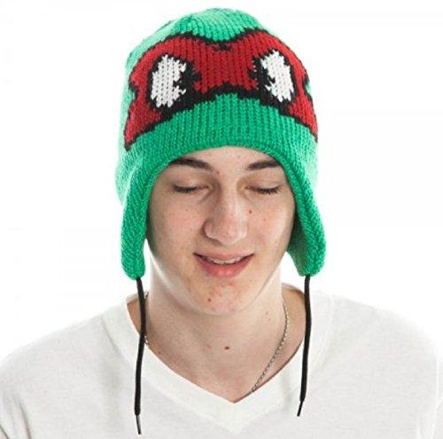 Purple Reversible Knit Beanie - New Horizons Production Teenage Mutant Ninja Turtles Red/Purple Reversible Laplander Beanie Knit Hat
