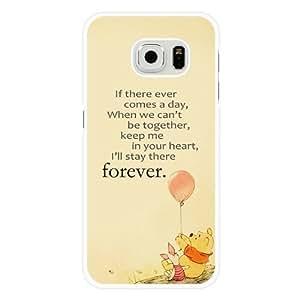 Samsung Galaxy S6 Case, Customized Disney Winnie the Pooh White Hard Shell Samsung Galaxy S6 Case, Winnie the Pooh Galaxy S6 Case(Not Fit for Galaxy S6 Edge)