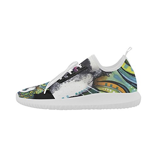 Interestprint Colorato Pug Delfino Ultra Leggero Scarpe Da Corsa Per Donna