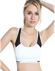 Women Sports Bras Padded Seamless High Impact Support for Yoga Workout Fitness