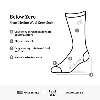 4pairs Merino Wool Socks Heather Charcoal Black Large 1