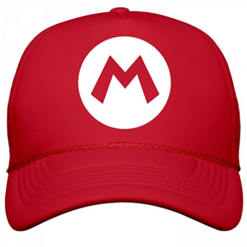 Cute Mario And Luigi Halloween Costumes (Red Plumber Costume Hat: OTTO Solid Snapback Trucker Hat)
