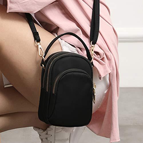 Travel Black Bags Cell Purse Shoulder Ladies Holder Phone Small Mini Cross Shoulder Body Girls Prettyia Bag Sports IqfvBwxB