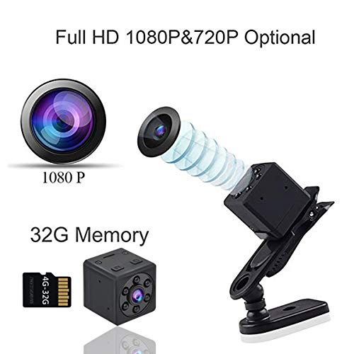 c46be629ad9b Spy Camera Wireless Hidden Camera Mini Nanny Cam Wearable HD 1080P Tiny Small  Home Security Monitoring