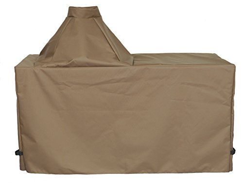"Cowley Canyon Brand Large Ceramic Egg Type Kamado Table Cover, 58"" L-28"" W-31"" H. Fits Large Big Green Egg, Kamado Joe Classic and others. -  Cowley Canyon Sales, LLC, K58LT2A"