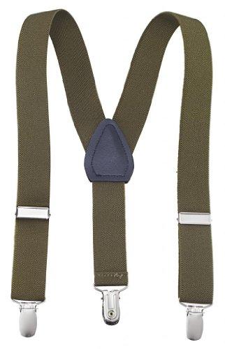 Kids and Baby Boys Adjustable Elastic Solid Color Suspenders (22