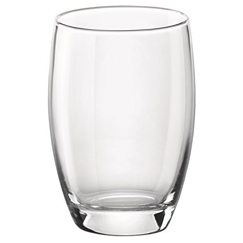 Bormioli Glass Highball Glass Rocco - Bormioli Rocco Essenza Cooler Glass, 16 oz., Set of 4 , Clear