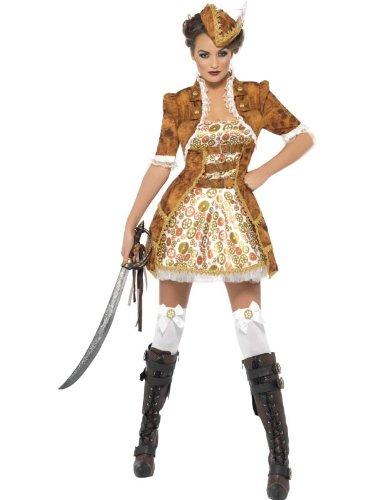 [Smiffy's Steam Punk Sexy Pirate Costume, Multi, Medium] (Steampunk Pirate)