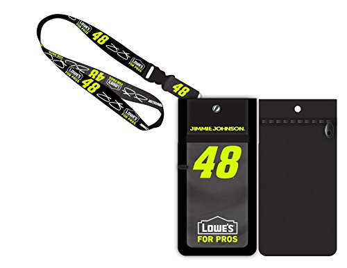 Jimmie Johnson #48 Lowe's Nascar Deluxe Credential Holder - Johnson Lanyard Jimmie
