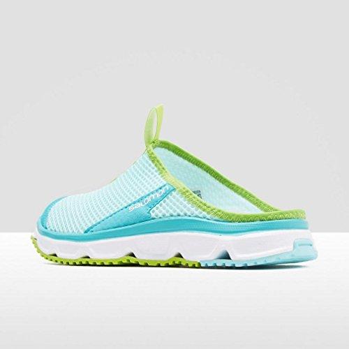 Salomon Rx Slide 3 W, Zapatillas de Trail Running para Mujer Azul (Aruba Blue/White/Lime Green)