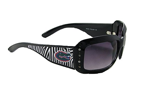 (Sports Accessory Store Florida Gators UF Black Zebra Print Clear Crystals Womens Sunglasses S4ZB)