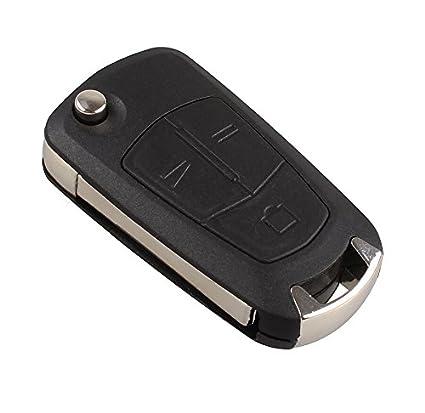 3 Botones Flip Remoto Caso Llavero Con Hoja De Vauxhall ...
