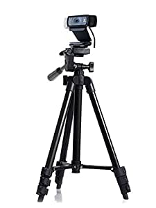 Professional Camera Tripod Mount Holder Stand for Logitech Webcam C930 C920 C615-Black