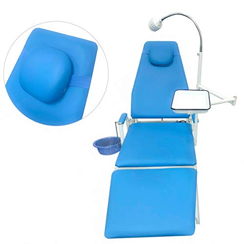 East Dental Portable Chair Overhead Cold Light with Cuspidor Tray Dentist Mobile Unit Type GU-109(A)-2 LED Without ()