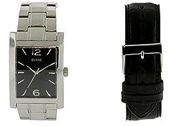 Guess W0506G1 Box Set Mens Watch - Black Dial
