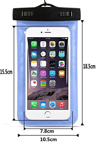 Westeng Funda Impermeable 6.5 Pulgadas Waterproof Case Universal Caja del teléfono estuche estanco al agua duradero (Negro) Negro