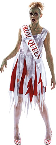 Ladies Adult Halloween Fancy Dress Party Creepy Horror Prom Queen Costume Outfit -