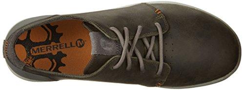 Merrell FREEWHEEL LACE J41387 - Zapatillas de deporte de cuero para hombre Charcoal