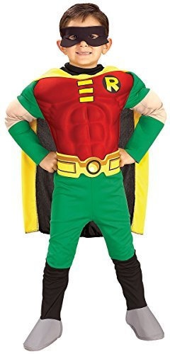 Deluxe Muscle Chest Robin Child Costume - Toddler - Toddler Robin Costumes