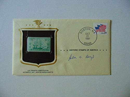 """""""First Secretary of Transportation"""" Alan Boyd Signed""""Stamps of America"""" FDC COA from Unknown"""