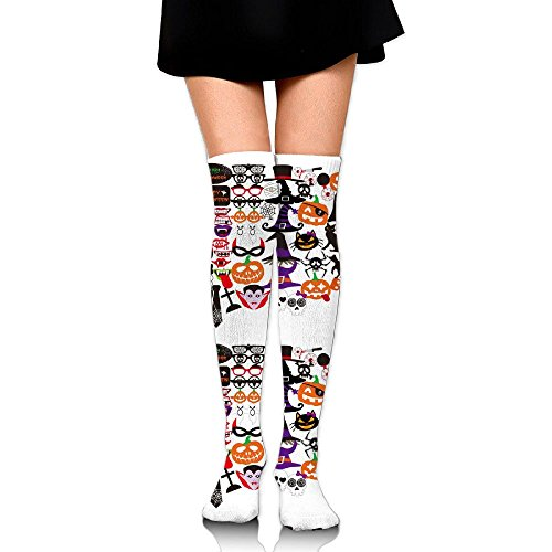 Jsojs Socks Female Halloween Photo Booth College Socks College Wind Student Jog Sports Calf Baseball (College Halloween Photos)