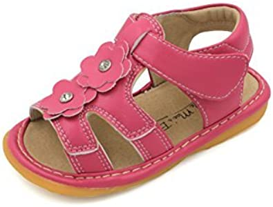 Pink Two Flower Squeaky Sandals