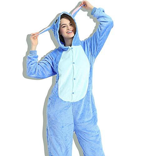 GOLACHA Pajamas Onesie Halloween Costumes Sleeping Wear Pajamas (M, Blue) ()