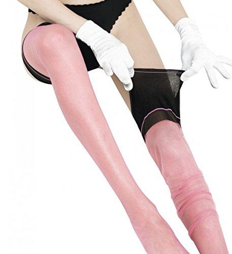 Cervin Women's Seduction Bicolore non-stretch seamed stockings small (4'10