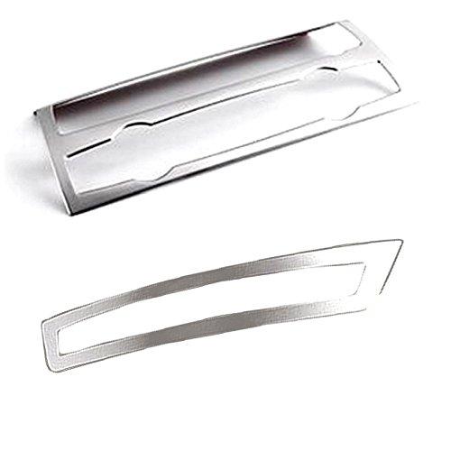 Trim Center Panel (2PCS Silver Steel Interior Center Console Adjustment Control Panel Cover Trim For BMW X5 E70 2008-2013)