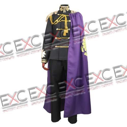 【コスプレ】ヘタリア Axis Powers 日本 黒軍服 風 コスプレ衣装 女性用LL