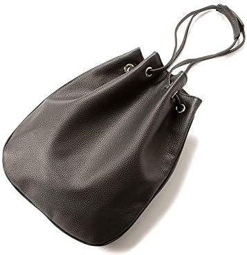 チセイ Cisei / 【国内正規品】 / グレインレザードローストリングバッグ「1200 LD」 (T.MORO/ダークブラウン) メンズ
