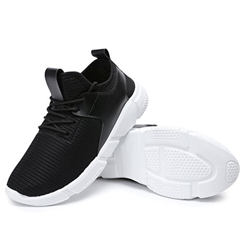 Odema Mens Lightweight Breathable Mesh Casual Street Walking Sneakers Workout Fitness Running Shoes Black pumBPuRP