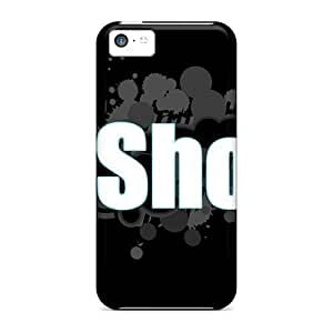 Awesome Dc Logo 3 Flip Case With Fashion Design For Iphone 5c hjbrhga1544